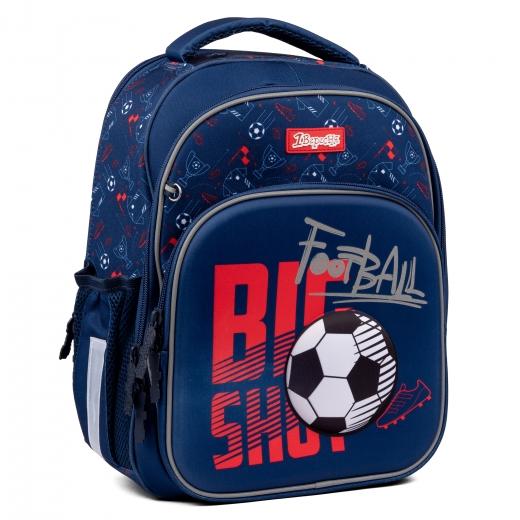 """Рюкзак школьный 1Вересня S-106 """"Football"""", синий"""