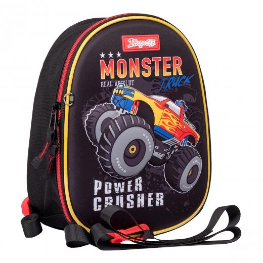 """Рюкзак детский 1Вересня K-43 """"Monster Truck"""", черный"""