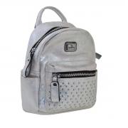 Сумка-рюкзак  YES, серебро, 17*20*8см