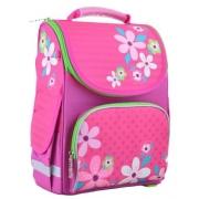Рюкзак школьный каркасный Smart PG-11 Flowers pink, 34*26*14