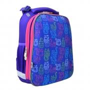 Рюкзак школьный каркасный  YES  H-12-1 Kotomaniya blue, 38*29*15