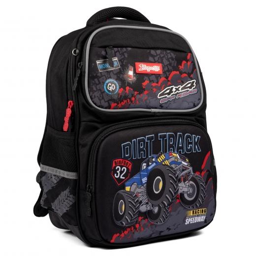"""Рюкзак школьный 1Вересня S-105 """"Dirt Track"""", черный"""