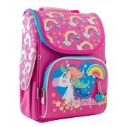 Рюкзак школьный каркасный  YES  H-11 Unicorn blue, 33.5*26*13.5