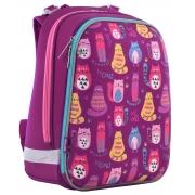 """Рюкзак школьный каркасный 1 Вересня H-12 """"Cute cats"""""""