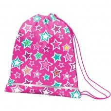 """Сумка для обуви SMART SB-01 """"Shine Bright"""", розовый/бирюзовый"""
