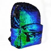 "Рюкзак молодежный  с паетками GS-01 ""Green chameleon"""