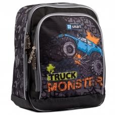 """Рюкзак школьный SMART H-55 """"Monster Truck"""", черный"""