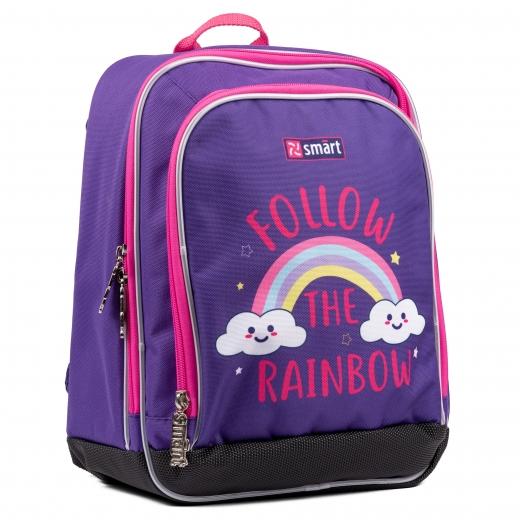 """Рюкзак школьный SMART H-55 """"Follow the rainbow"""", фиолетовый"""