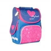 Рюкзак школьный каркасный SMART PG-11 My heart