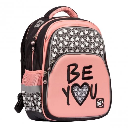 """Рюкзак YES S-40h  """"Be YOU"""", черный/розовый"""