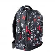 Рюкзак школьный SMART TN-07 Global, черн/бел