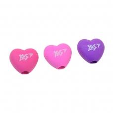 "Ластик-насадка на карандаш YES ""Heart"" 3 цв./уп."