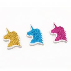 "Ластик YES фигурный с глит. ""Unicorn"",  3 цв./уп."