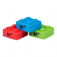 "Ластик фигурный YES ""Blocks"" 3 цв./уп."