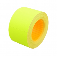 Ценник Datum флюо TCBIL4050 10,00м, прям.200шт/рол (желт.)