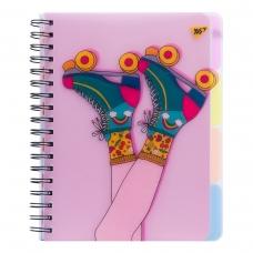 Тетрадь B5 100 Кл. YES Пл.Обл. Pink Rollers