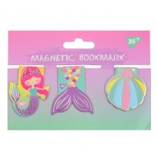 "Закладки магнитные YES ""Mermaid"", фольга, 3шт"