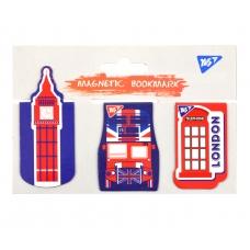 "Закладки магнитные YES ""London"", высечка, 3шт"