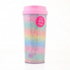 """Тамблер-стакан YES """"Rainbow"""", 480мл, глиттер"""