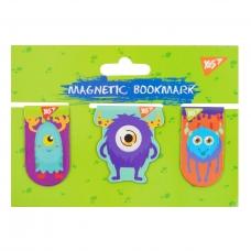 """Закладки магнитные YES """"Monsters"""", 3шт"""