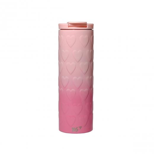 "Термочашка YES ""Pink Heart"", 420 мл"