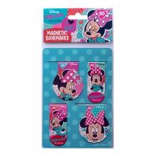 """Закладки магнитные YES """"Minnie Mouse"""", 4 шт"""