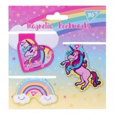 Закладки магнитные YES «Unicorn», высечка, 3шт