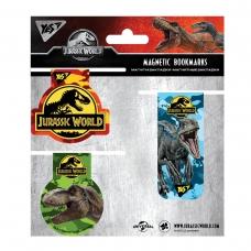 """Закладки магнитные YES """"JURASSIC WORLD"""", 3 шт"""