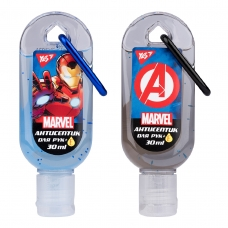 "Гель антисептический YES для рук с карабином ""Marvel.Avengers"", 30 мл."