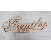 """Надпись из фанеры 0.6 """"Family"""", 33*10.5см"""