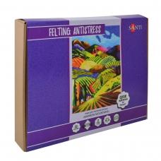 Набор для создания картины «Rainbow Mountains», техника валяния, 38*30 см.