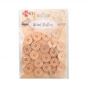 Набор пуговиц для творчества Santi древесина,18 мм, 20 шт./уп.