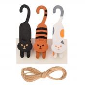 """Набор прищепок деревянных Santi декоративных """"Cat games"""", 8 см, 3 шт./уп."""