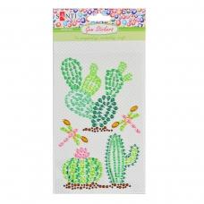 Набор аппликаций Santi из кристаллов самоклеящихся «Trendy Cactus», 9.5*15 см.