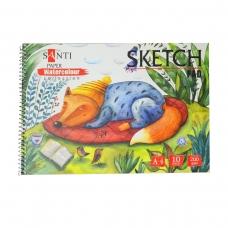 "Альбом для акварели SANTI ""Wonderland"", А4 ""Paper Watercolour Collection"", 10 л., 200г/м2"