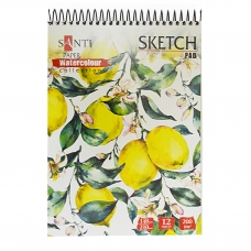 "Альбом  для акварели SANTI ""Floristics"", А5, ""Paper Watercolour Collection"", 12л.,200 г/м2"
