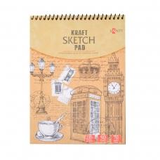 Альбом с крафтовой бумагой  SANTI, А5, 50 л., 70 г/м2