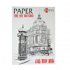 "Набор бумаги для графики SANTI, А3 ""Fine art sketches"", 20 л., 190 г/м2"