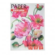 "Набор аквар. бумаги SANTI ""Floristics"", А3, ""Paper Watercolor Collection"", 18л., 200г/м2"