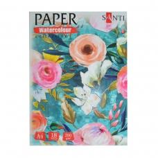 "Набор аквар бумаги SANTI ""Floristics"", А4, ""Paper Watercolor Collection"", 18 л., 200г/м2"