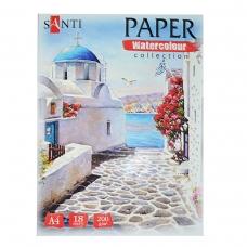 "Набор аквар. бумаги SANTI ""Travelling"", А4, ""Paper Watercolor Collection"", 18 л., 200г/м2"