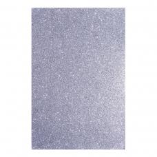 Фоамиран ЭВА серебряный с глиттером, 200*300 мм, толщина 1,7 мм, 10 листов