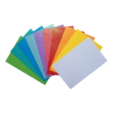 "Набор Фоамиран ЭВА с глиттером ""Fashion colors"" , 10 цветов, А4, толщина 1,7 мм."