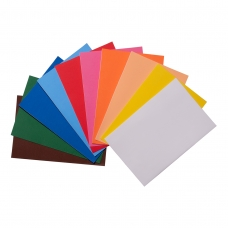 Набор Фоамиран ЭВА разноцветного, с клеевым слоем, 10 цветов, А4, толщина 1,7 мм
