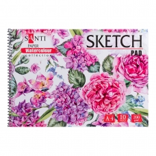 "Альбом для акварели SANTI ""Botanic"", А4, ""Paper Watercolour Collection"", 10 л., 200г/м2"