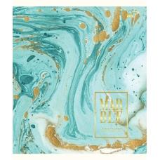 А5/48 лин. YES мат. ламинация+фольга золото+глиттер золото Marble, тетрадь