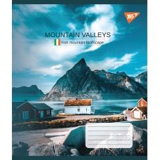 А5/48 кл. YES Mountain valleys, тетрадь для записей