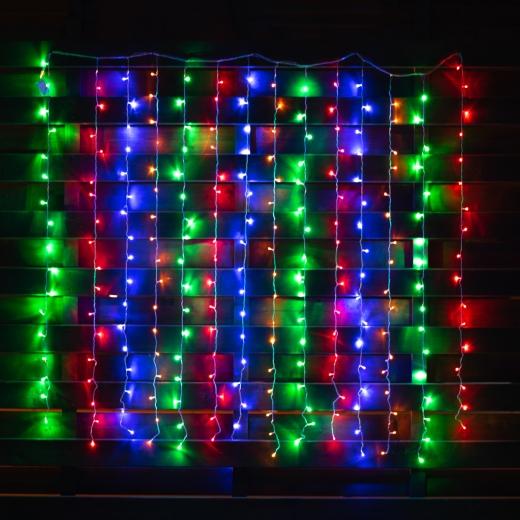 """Электрогирлянда-штора светодиодная Yes! Fun """"Christmas time"""",238 ламп, многоцветная, 1.95м"""