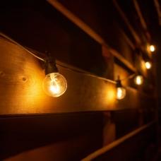 Электрогирлянда-ретро LED уличная Yes! Fun, 10 ламп, d-50 мм, тепло-белая, 8 м