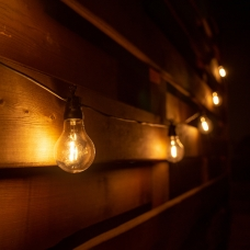 Электрогирлянда-ретро LED уличная Yes! Fun, 10 ламп, d-60 мм, тепло-белая, 8 м